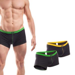 Baumwolle_Boxershort_Boxerpants_rippbund_2Set_grün_gelb