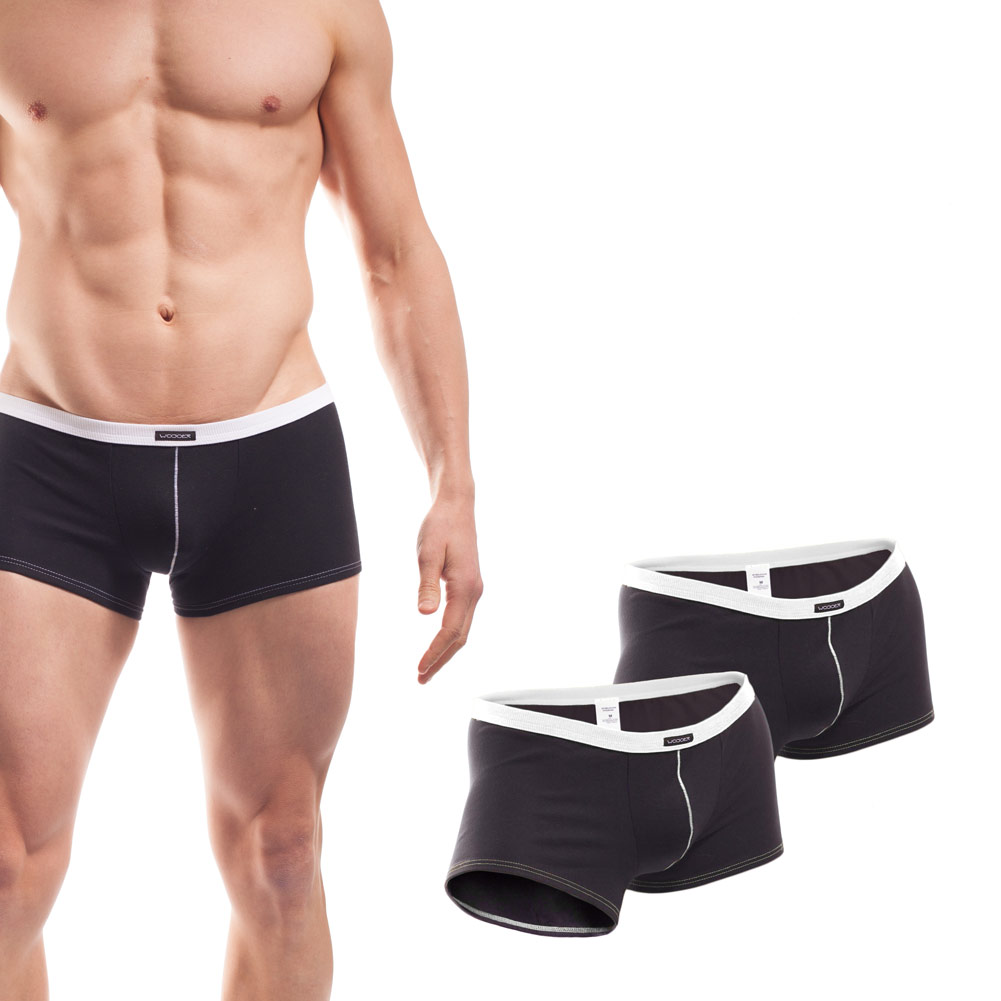 Baumwolle_Boxershort_Boxerpants_rippbund_2Set_weiß