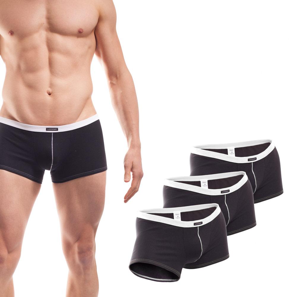 Baumwolle_Boxershort_Boxerpants_rippbund_3Set_weiß