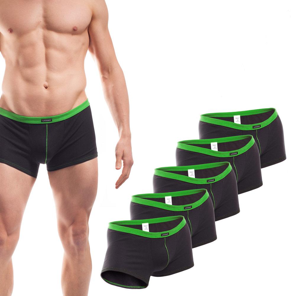 Baumwolle_Boxershort_Boxerpants_rippbund_5Set_grün
