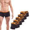 Baumwolle_Boxershort_Boxerpants_rippbund_5Set_orange