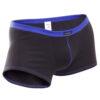feine Baumwoll Boxershorts, dehntbar, enganliegend, slim fit, Rippbund, schwarz, blau