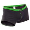feine Baumwoll Boxershorts, dehntbar, enganliegend, slim fit, Rippbund, schwarz, grün