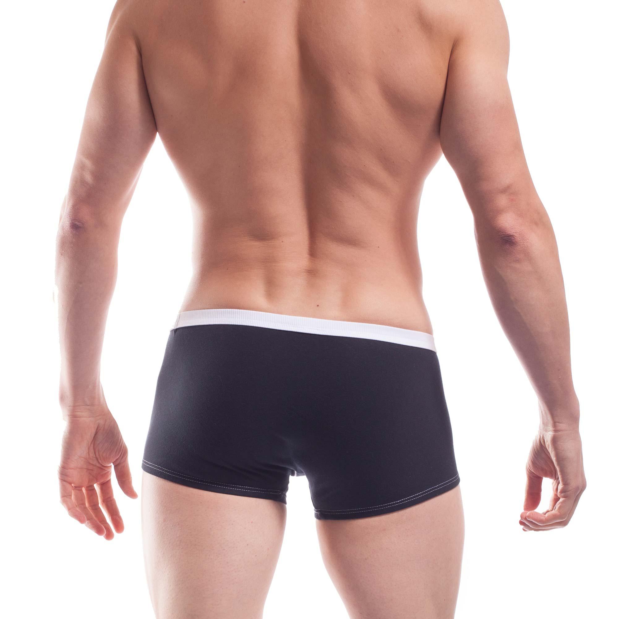 feine Baumwoll Boxershorts, dehntbar, enganliegend, slim fit, Rippbund, schwarz, weiß