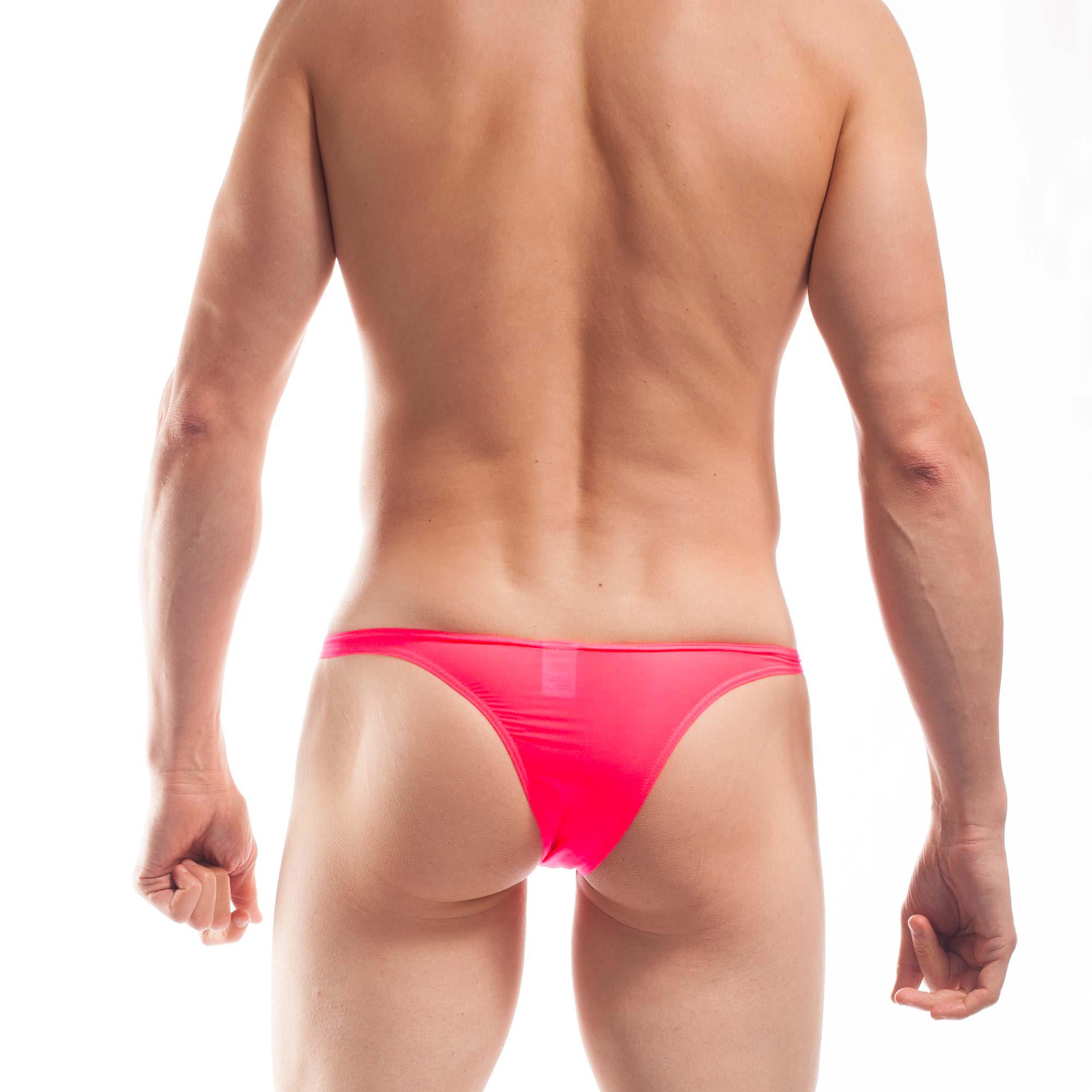BEUN BASIC MINI TANGA Neon Coral, Neon Pink-Rot. Uhhh, wer auffallen will, sollte den im Kleiderschrank haben. Dieser gewagte BEUN Mini PushUp Tanga in Neoncoral zieht Blicke auf sich. So bequem unter der Jeans, aber viel zu schade, um ihn immer zu verstecken. Also raus an den Strand, denn der Beach & Underwear Tanga ist Salz- und Chlorwasserbeständig. Psst: Nur wer genau hinsieht bemerkt die verführerisch leichte Transparenz. WOJOER