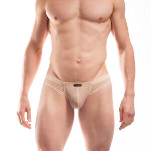 """WOJOER BEUN BASIC Mini Hipster, Cheeky Slip, Brief, Pants, Shorts, Unterhose,Nude, Haut, Hautfarbe. Unauffällig oder anziehend anders? Der hautfarbene Beach & Underwear Cheeky Slip von WOJOER ist in vielerlei Hinsicht kontrovers. Dem einen zu knapp, für den anderen perfekt hebend. Der eine sieht """"Fleischfarbe"""", für den anderen ist er erotisch """"Nude"""", für so manchen zu transparent, für den Kenner elektrisierend. Aber eins ist er alle Male: Bequem! Am Stand und unter der Hose. WOJOER"""