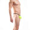 BEUN STRIPE PUSH UP MINI STRING, String, Tube, knappe Badehose, swim trunks, kontrast Ränder, schwarze Börtchen, neon gelb