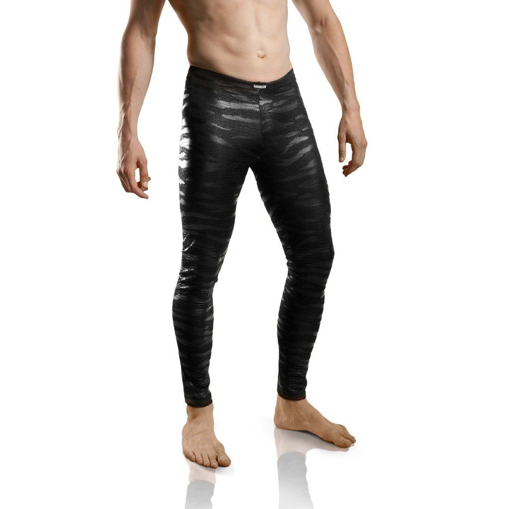 matte Lederimitat Leggings, Kunstleder, Letherlike, Matt und glänzender Druck, Gorilla, Tieger