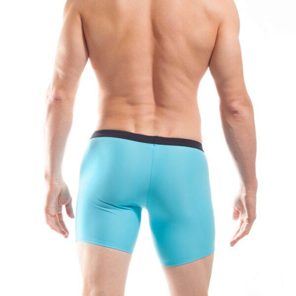 Longpant, Shorts, Badehose, Badestoff matt, blau, hellblau, schwarz