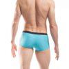 Pant, Shorts, Badehose, Badestoff matt, blau, hellblau, schwarz