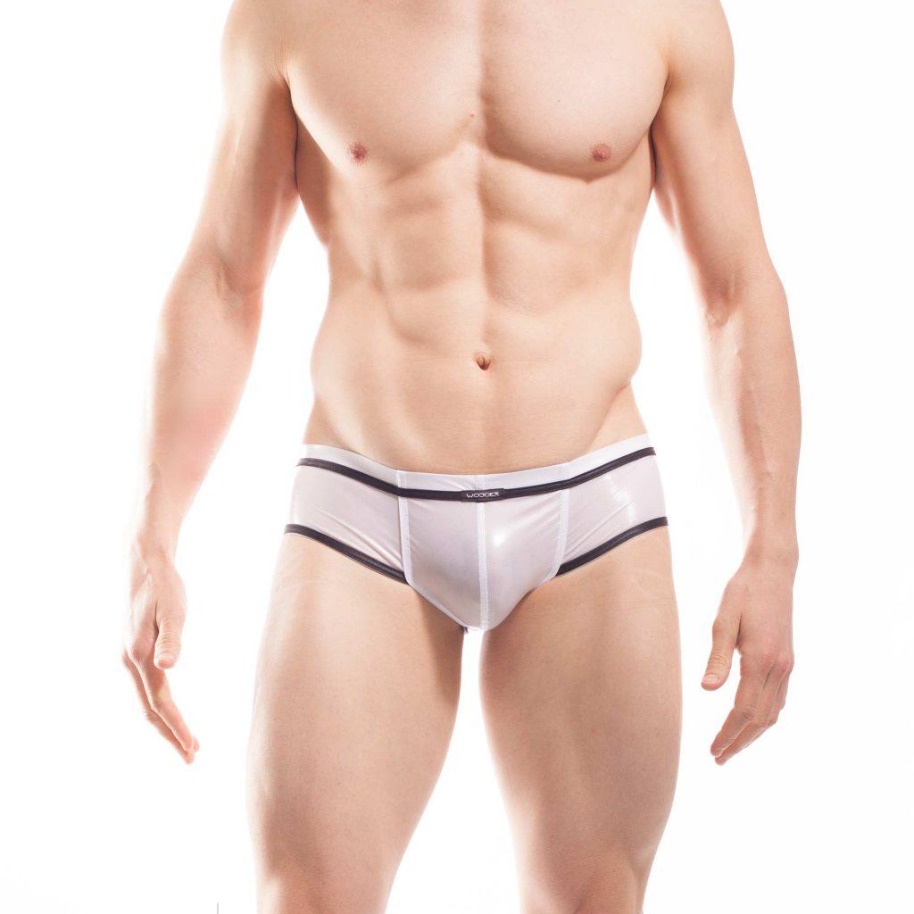synthetische Latex Pants, synthetischer rubber, weiße wasserdichte Netz-Gummi Shorts