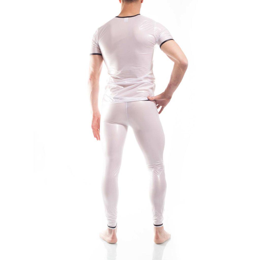 synthetisched Latex Shirt, synthetischer rubber, weißes wasserdichtes Netz-Gummi Shirt