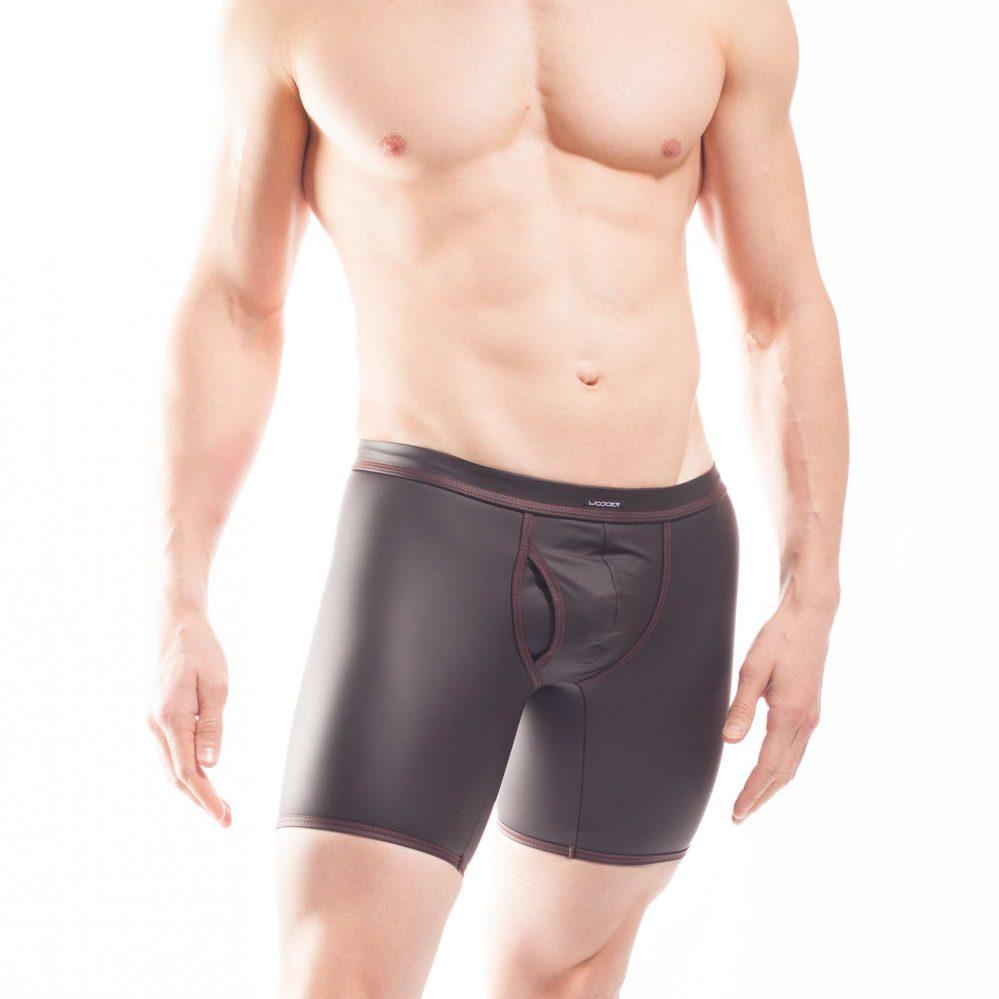 schwarze velvet touch Longpants, schwarze Shorts mit mattem kunstleder, Synlex, mattes Lederimitat, super dehnbares Letherlike, fein dünnes Kunstleder, Shorts, schwarz, Pant, Clubwear, Unterhose, Longpants