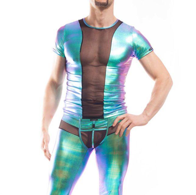 metallic shirt, sunrise ocean blue shirt mit netzteil, Powernet