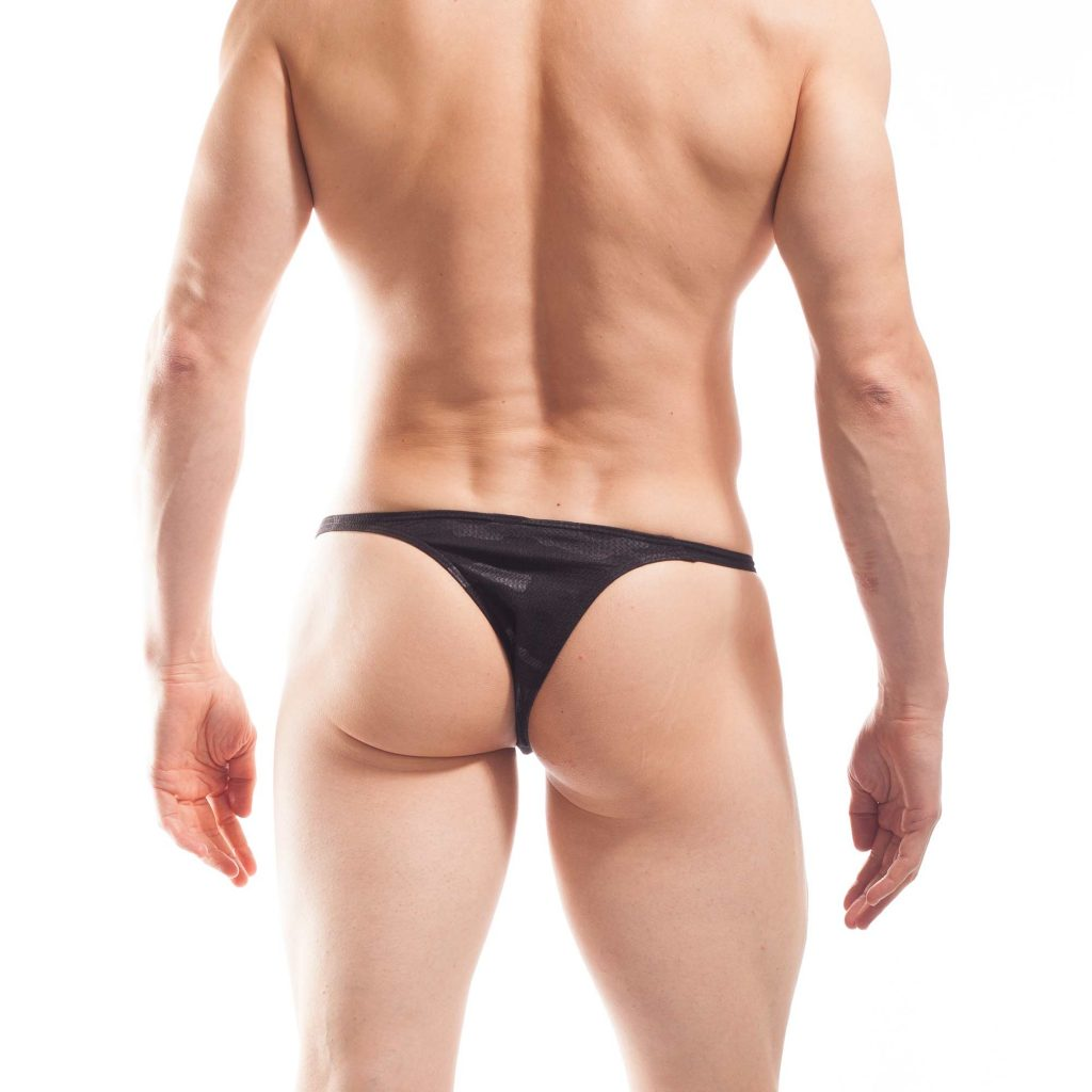 camouflage mini push up tanga, schwarz