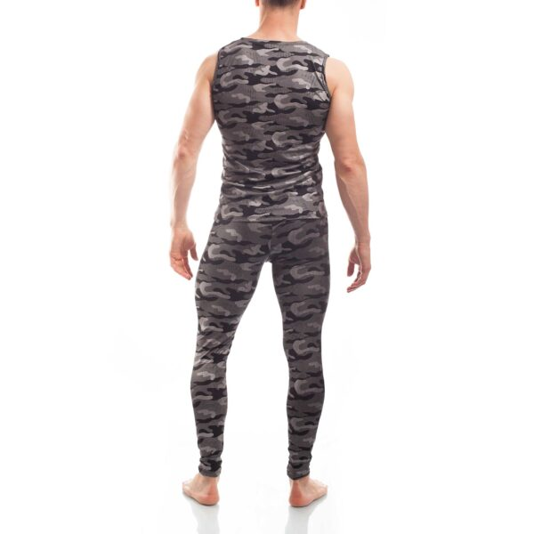 Bade Leggings Camouflage beach silber, mit Schnürung, bade Shirt camouflage beach silber