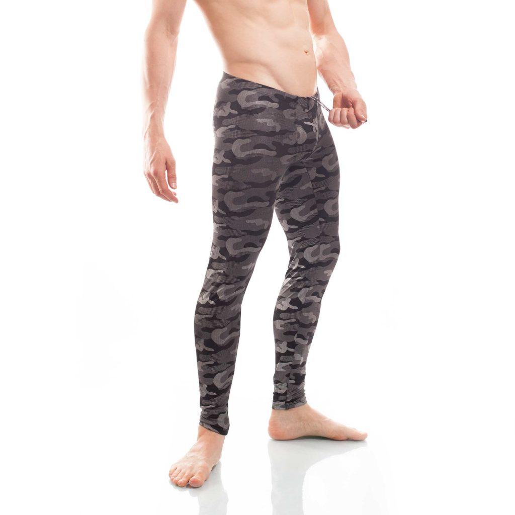 Bade Leggings Camouflage beach silber, mit Schnürung