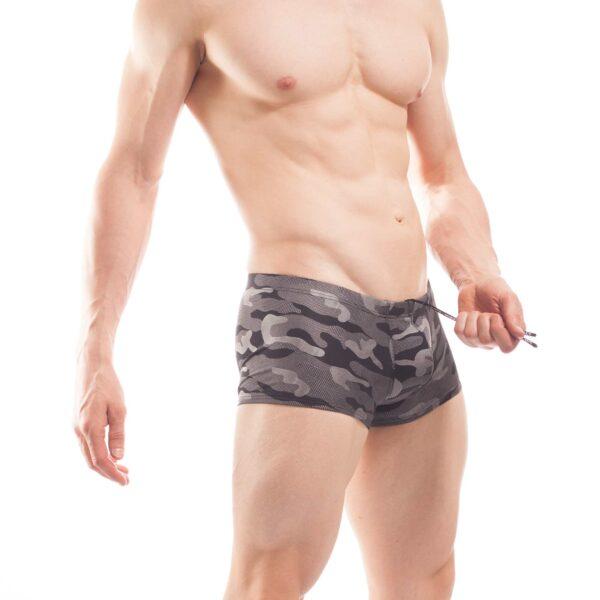 bade pants camouflage beach silber