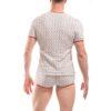 white waves, baumwoll shirt. 3D Material, Rippmaterial,