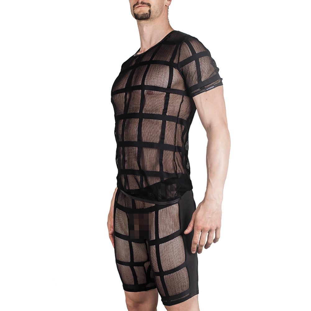 Netz Shirt Jail schwarz, Netz longpants