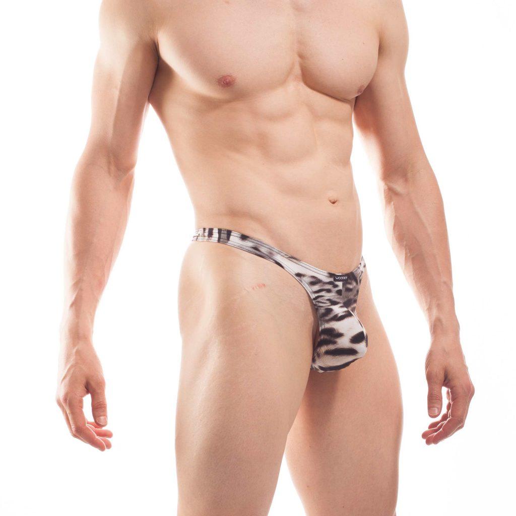 Männer weiß leopard String TIGER Jersey