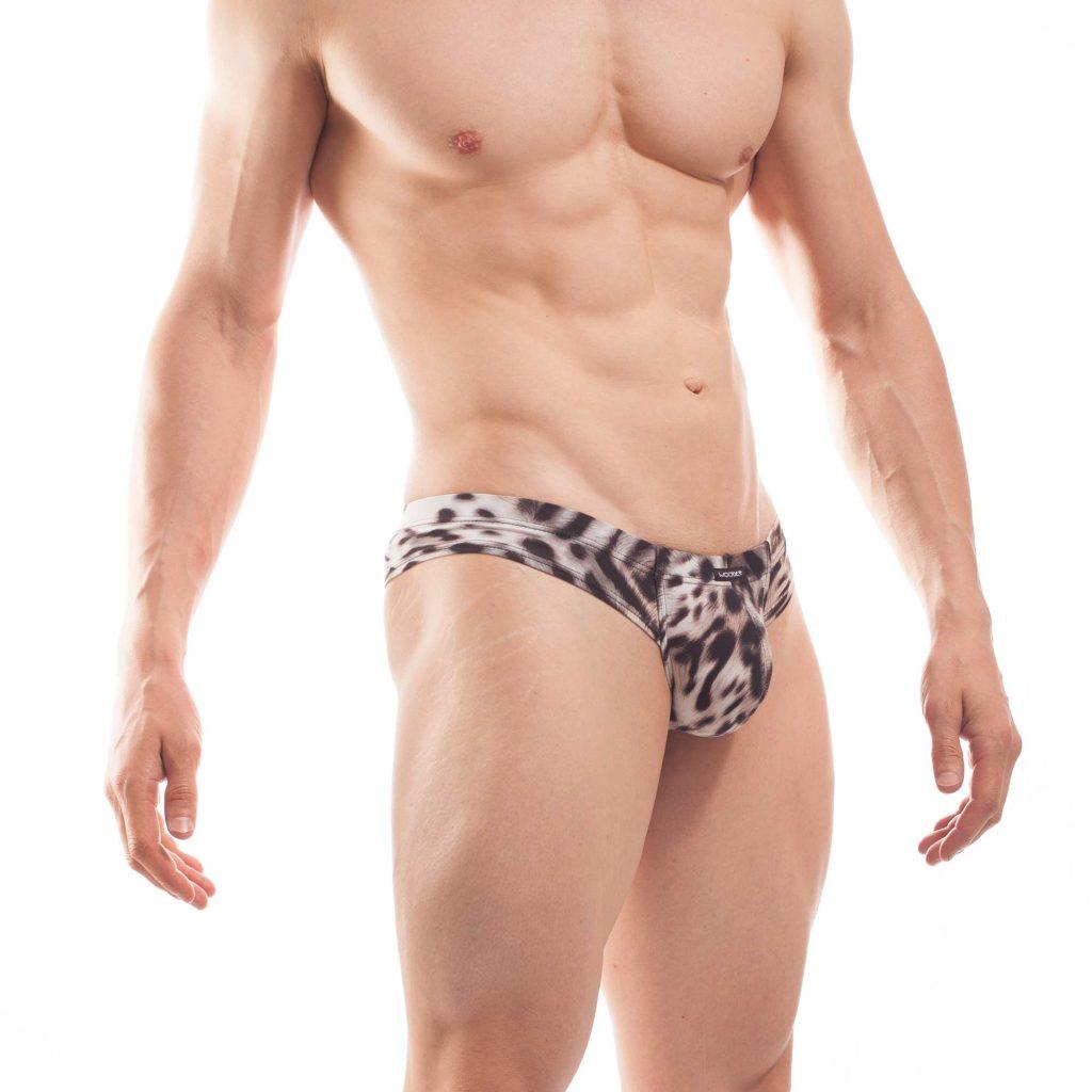 Leopards Brief, weißer Tiger Mini Hipster, weiss