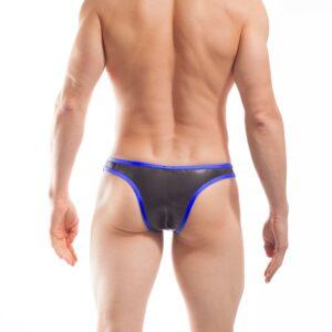 Bade Tanga, Neopren Tanga, Glatthautneopren, erotischer Brasil Slip, Männer Brasil, royal blau