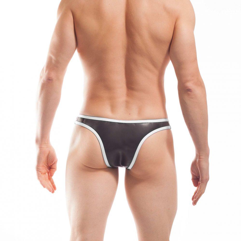 Bade Tanga, Neopren Tanga, Glatthautneopren, erotischer Brasil Slip, Männer Brasil, weiss