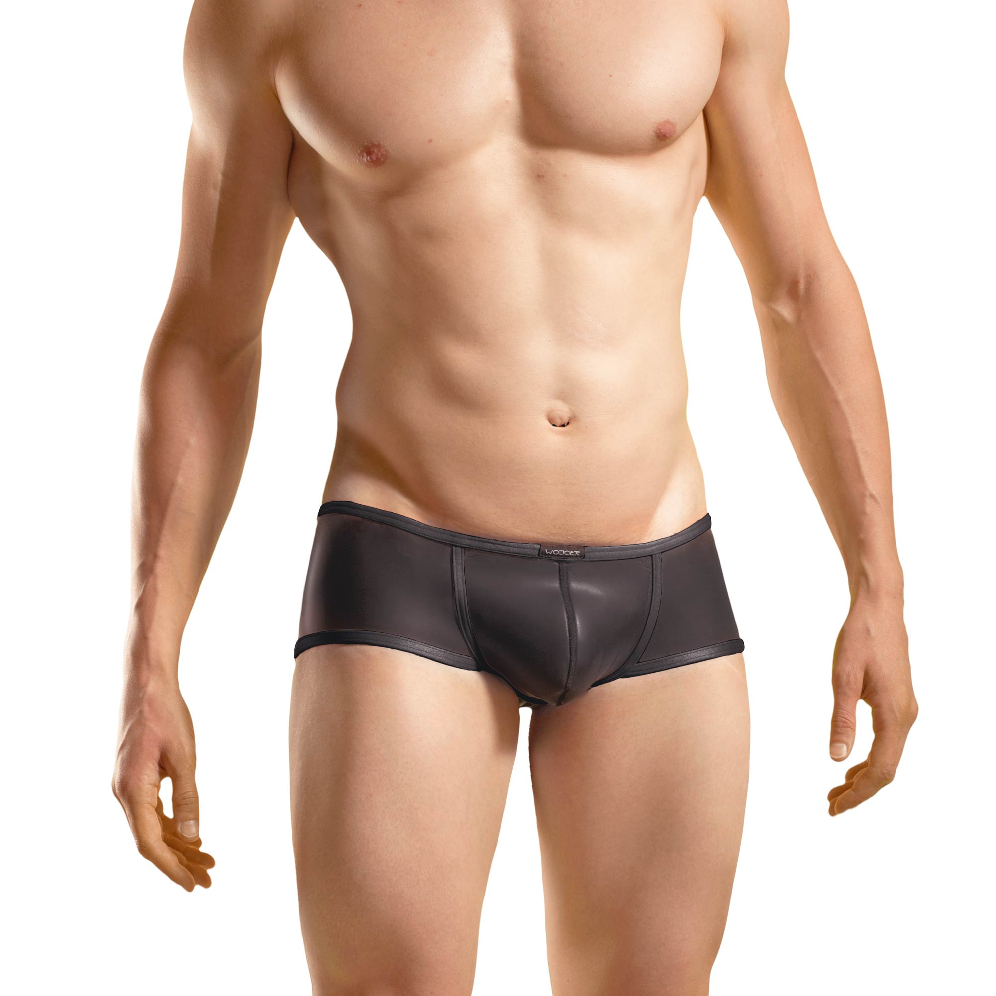 Bade Hipster, Neopren Pant, Glatthautneopren, erotische Badehose, Männer Pants, schwarz