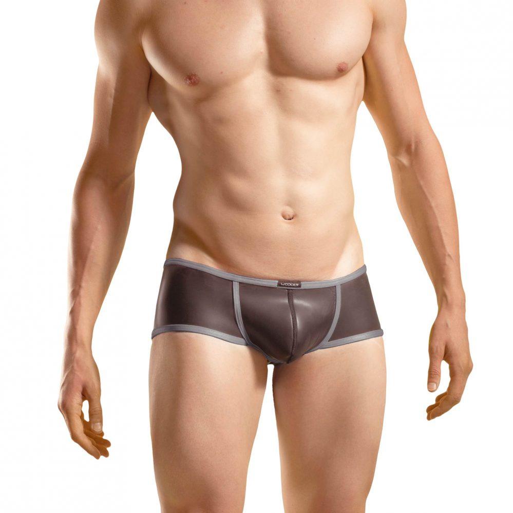 Bade Hipster, Neopren Pant, Glatthautneopren, erotische Badehose, Männer Pants, titanio grau