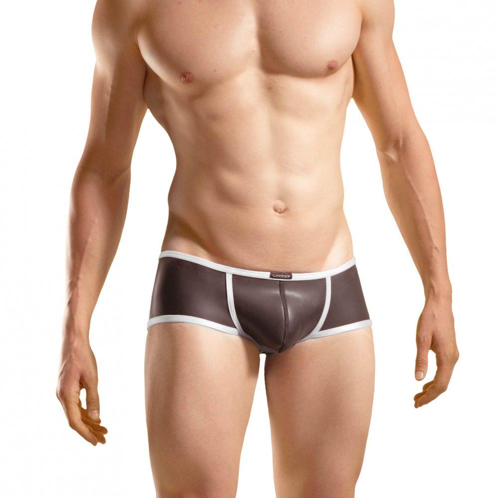 Bade Hipster, Neopren Pant, Glatthautneopren, erotische Badehose, Männer Pants, weiß
