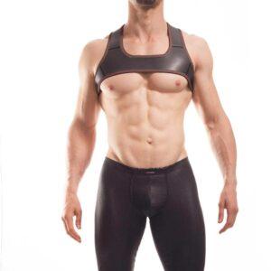 Wojoer Harness,Harnes, Brustgeschirr, Brustbänder Mann, Brustgurt, minitop, braun