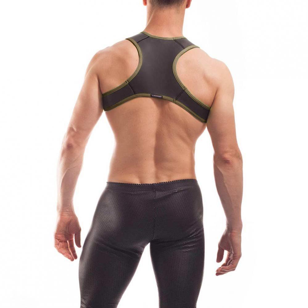 neopren harness, Wojoer Harness,Harnes, Brustgeschirr, Brustbänder Mann, Brustgurt, minitop, navi
