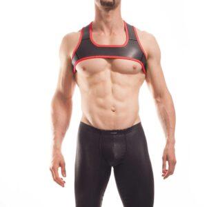 Wojoer Harness,Harnes, Brustgeschirr, Brustbänder Mann, Brustgurt, minitop, rot