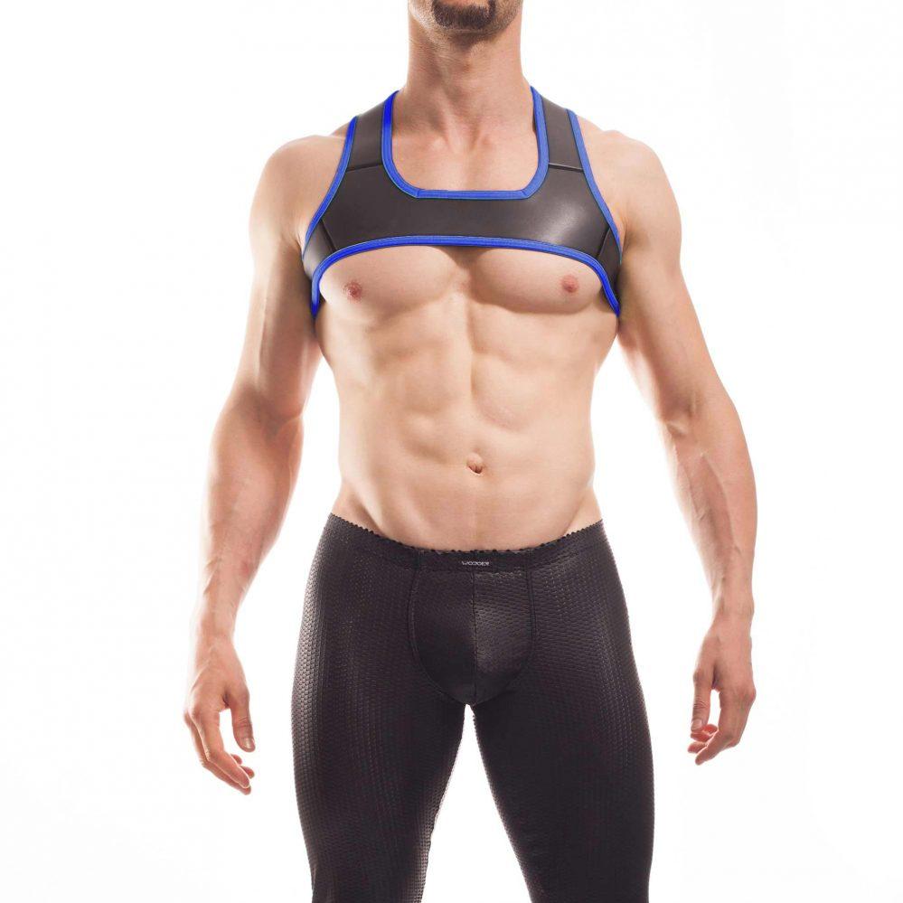 Wojoer Harness,Harnes, Brustgeschirr, Brustbänder Mann, Brustgurt, minitop, royal blau