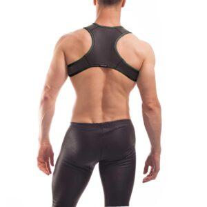 Wojoer Harness,Harnes, Brustgeschirr, Brustbänder Mann, Brustgurt, minitop, schwarz
