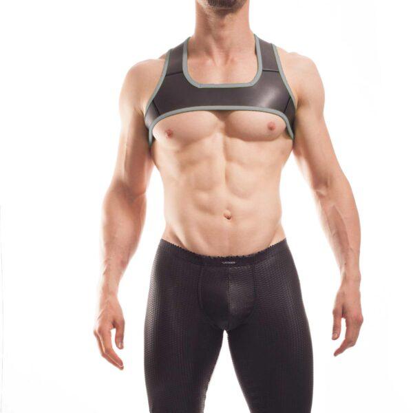 Wojoer Harness,Harnes, Brustgeschirr, Brustbänder Mann, Brustgurt, minitop, titanio grau