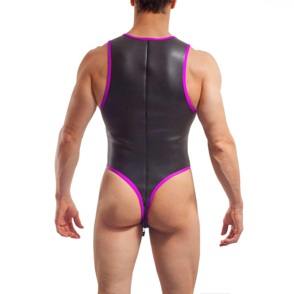 neopren string body, Wojoer Neopren Body, String Body, Glatthautneopren, Männer Ganzkörpernazug, String Shorty, Herren Badeanzug, neon pink