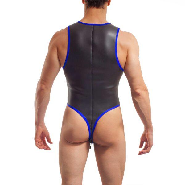 neopren string body, Wojoer Neopren Body, String Body, Glatthautneopren, Männer Ganzkörpernazug, String Shorty, Herren Badeanzug, royal blau