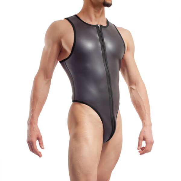 neopren string body, Wojoer Neopren Body, String Body, Glatthautneopren, Männer Ganzkörpernazug, String Shorty, Herren Badeanzug, schwarz