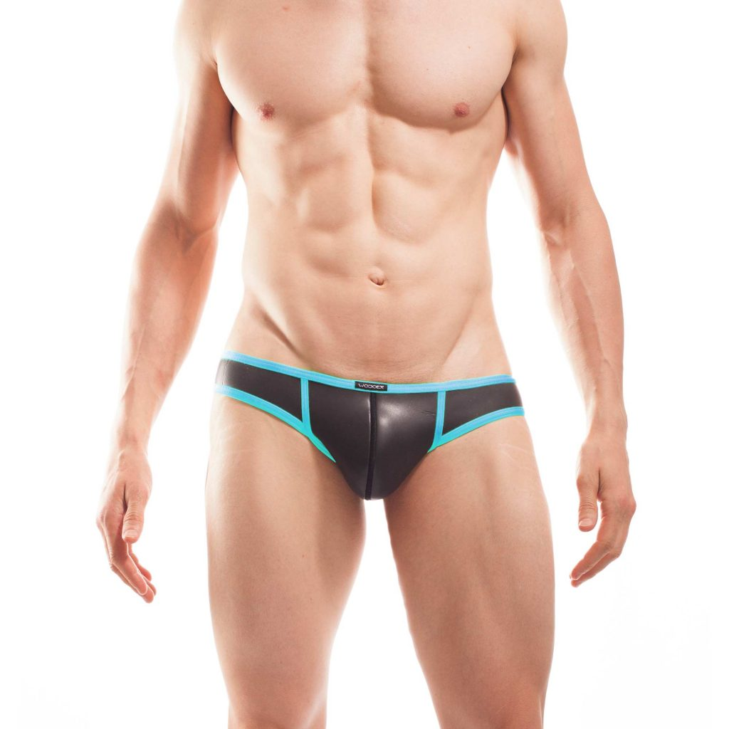 Neopren Slip Neopren Mini Hipster, pant, short pant, sloggi, boxer, briefs, eis blau