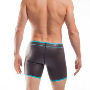 NEOPREN LONGPANT, neopren, shorts, enganliegende Badehose, swim trunks, eis blau