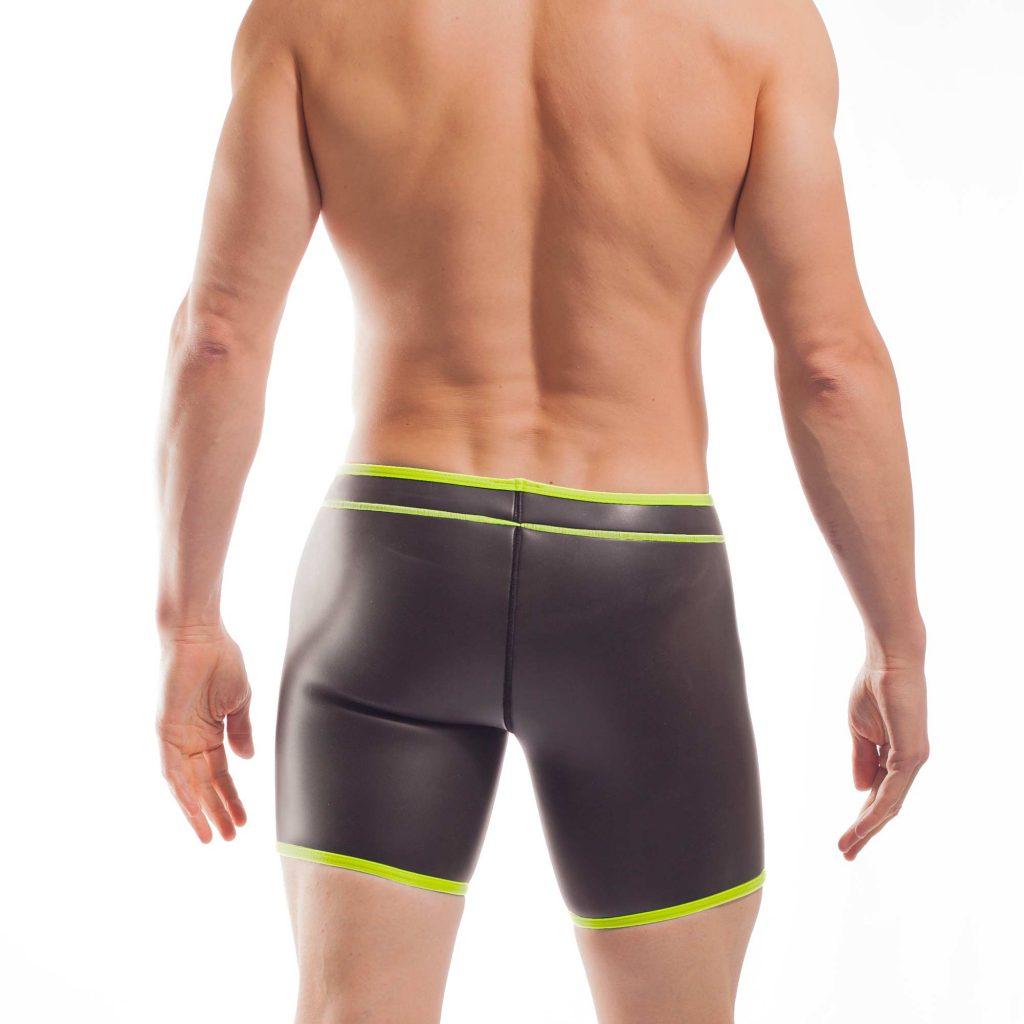 NEOPREN LONGPANT, neopren, shorts, enganliegende Badehose, swim trunks, neon gelb