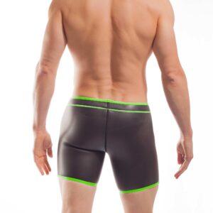 NEOPREN LONGPANT, neopren, shorts, enganliegende Badehose, swim trunks, neon gruen