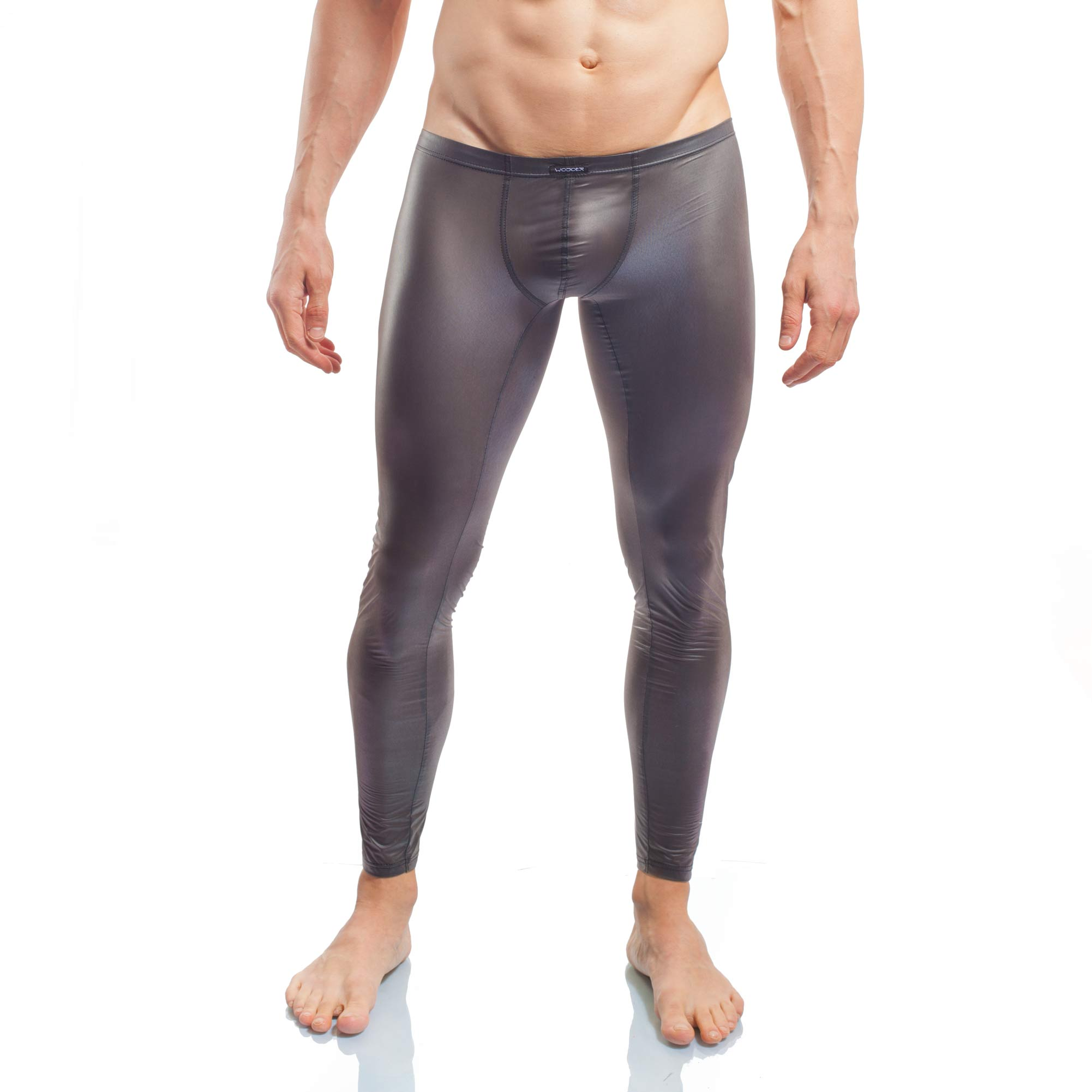Schwarze Leggings, FunXtion schwarz, Synthetisches Latex, Gummi, transparent, Leggings, schwarz