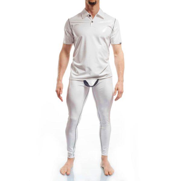 Lack Polo shirt weiß