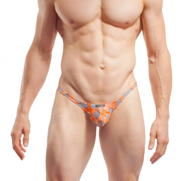 punk tanga tear up slip, Unterhose, warm, weich, pushup, knackig, sexy, orange, grau, Baumwolle, Viskose