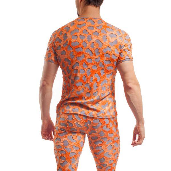 punk leggings, tear up, orange grau, baumwolle, viskose, warm, weich leggings, longjohns, unterhose Wojoer, Shirt, Unterhemd, punk, zerissen, Schlafanzug