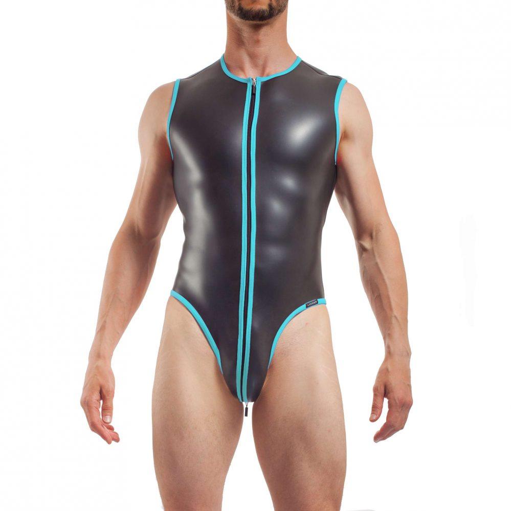 Body Badeanzug Jumpsuite Eisblau