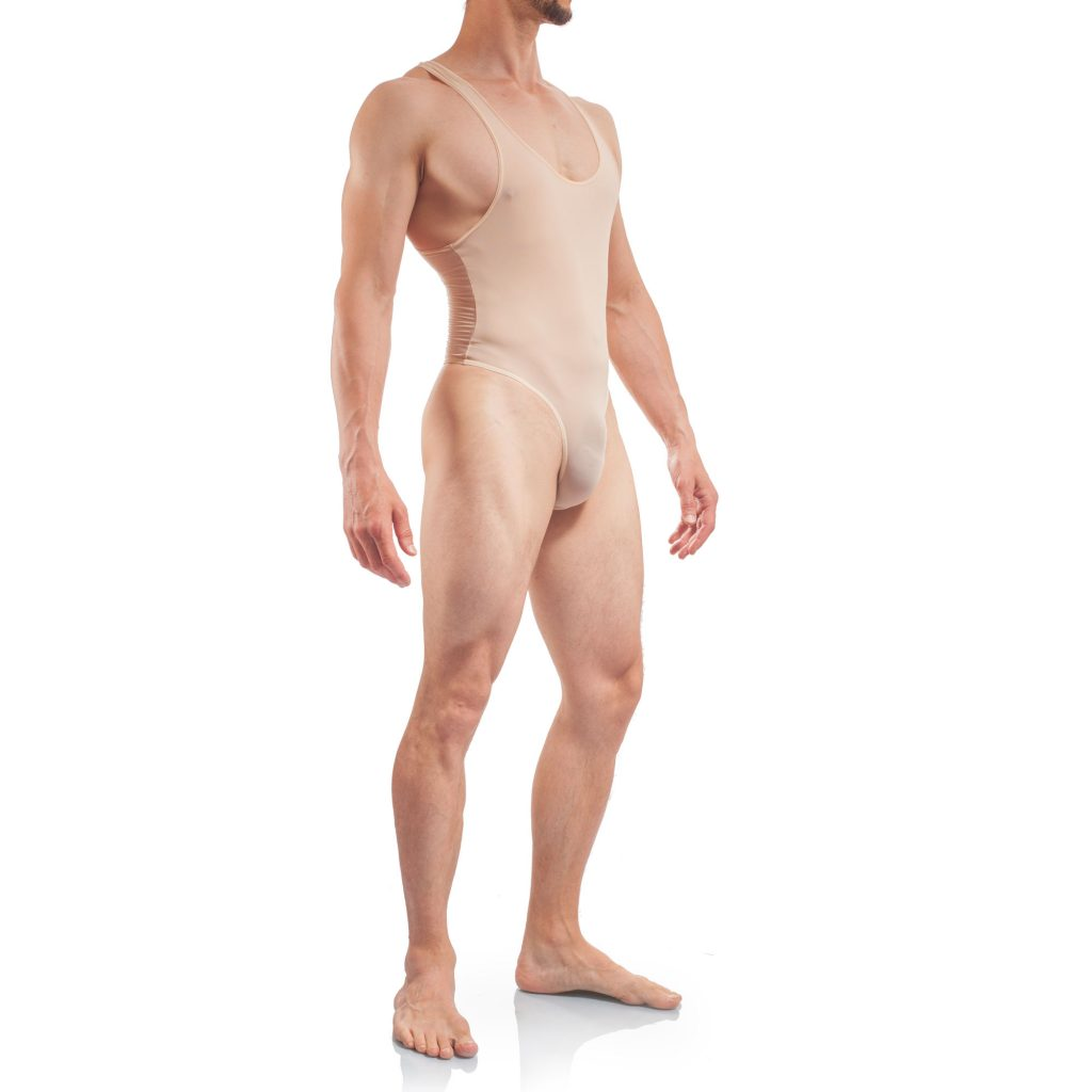 Basic Body Men, Stringbody Nude Herren Badeanzug